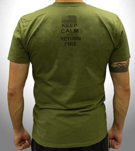 Keep Calm And Return Fire - Back