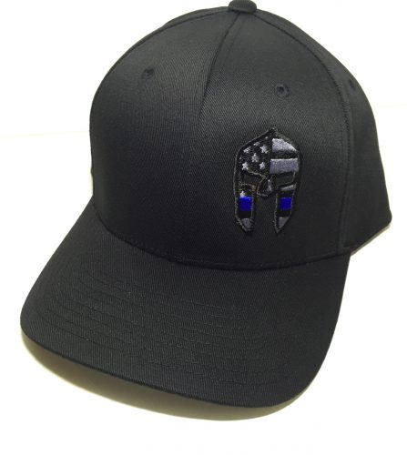 Spartan Hat with BLUE LINE